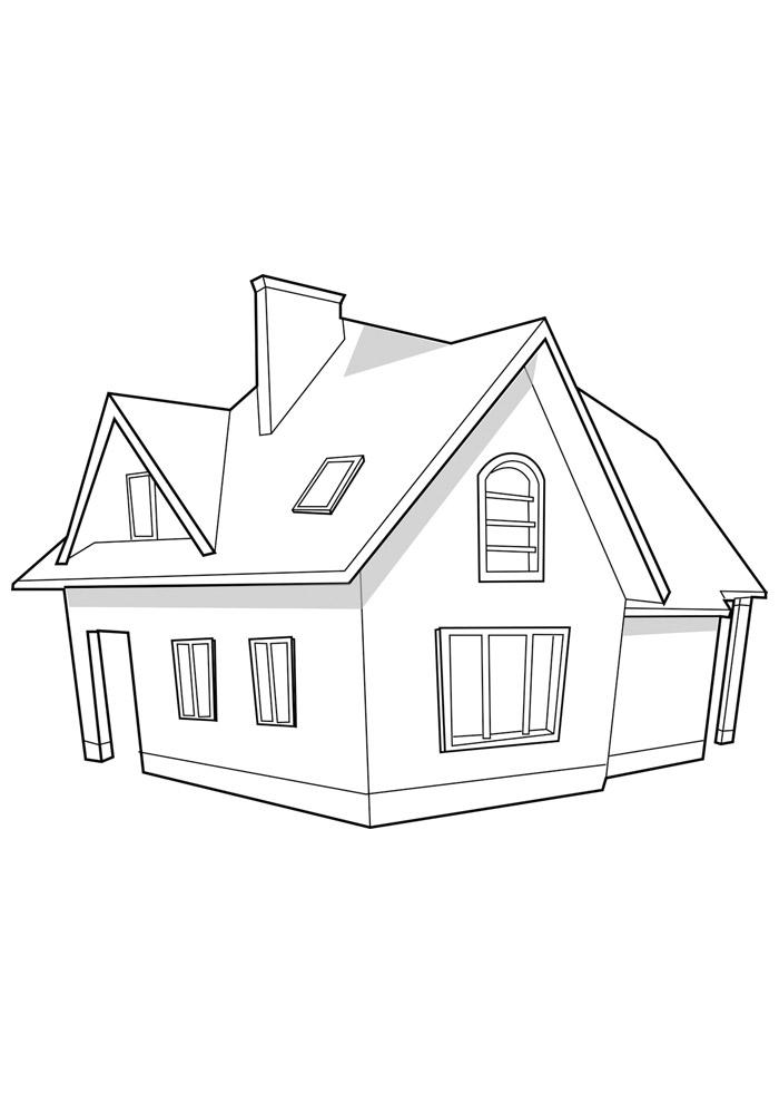 casa para colorir 31