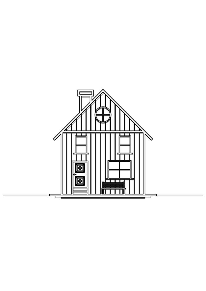 casa para colorir 32