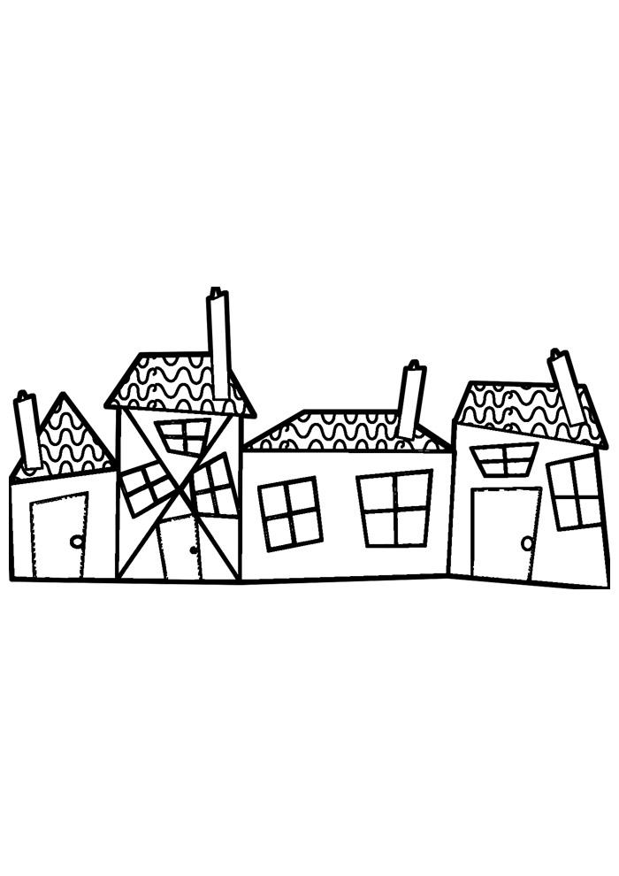 casa para colorir 36