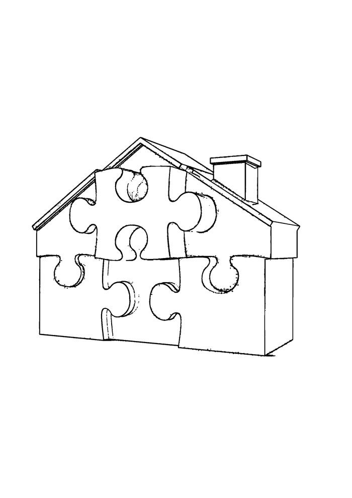casa para colorir 37