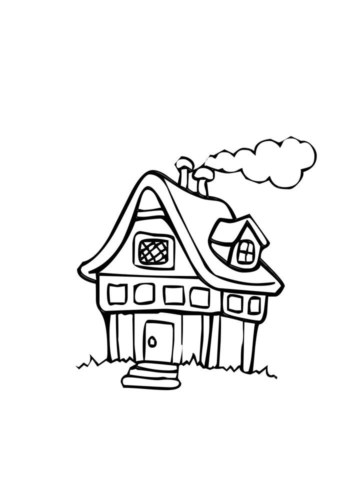 casa para colorir 5