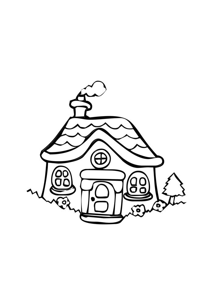 casa para colorir 7