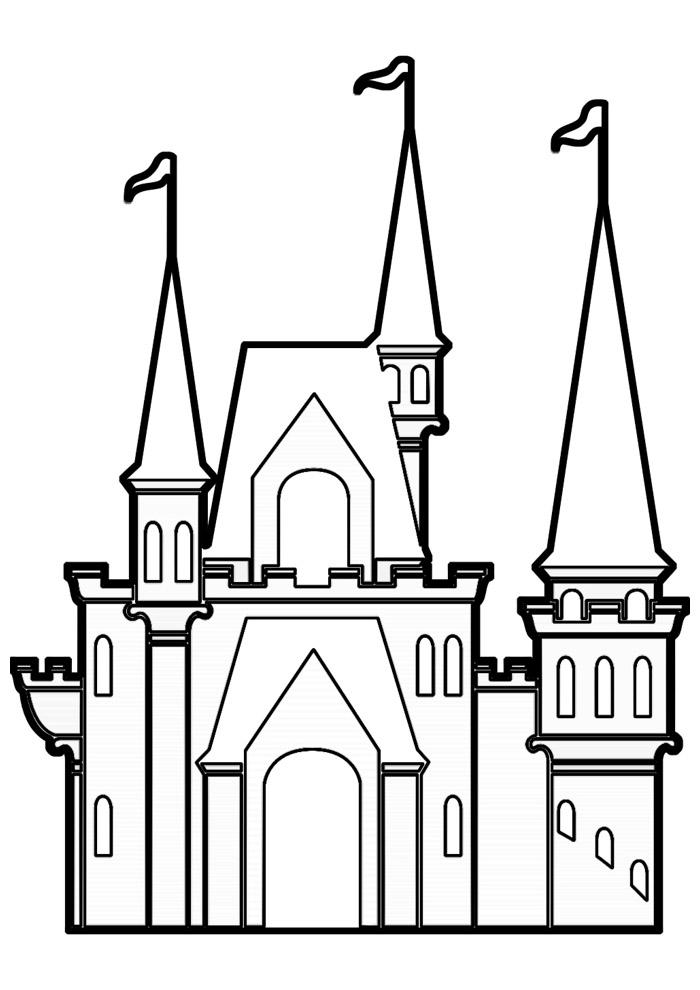 castelo para colorir 10