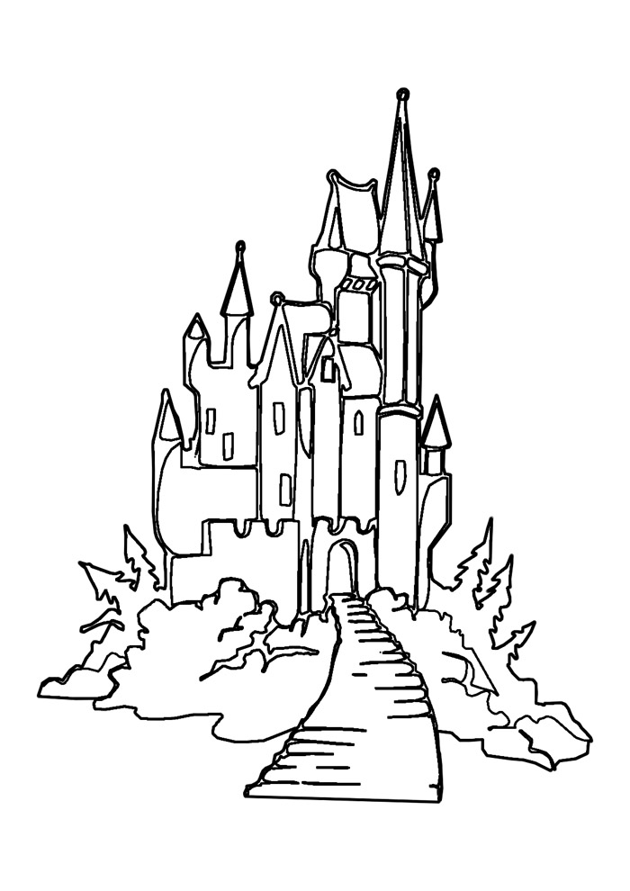 castelo para colorir 11