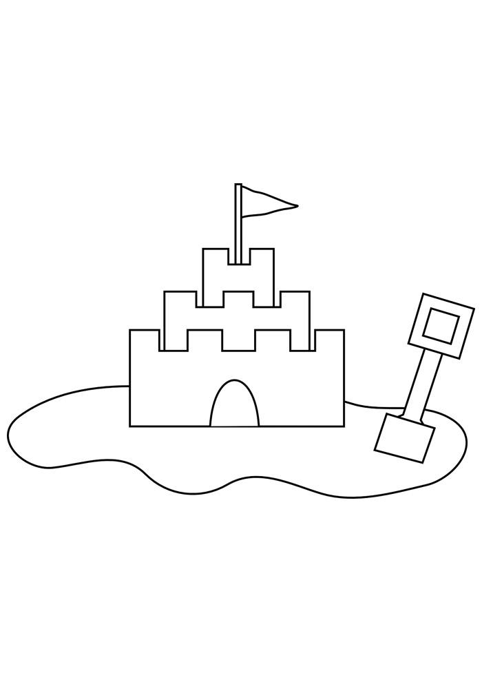 castelo para colorir 12