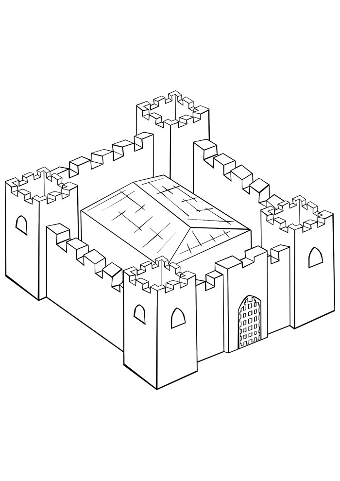 castelo para colorir 13