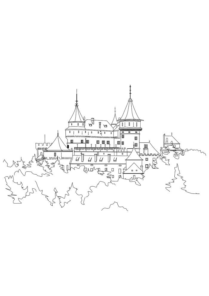 castelo para colorir 16