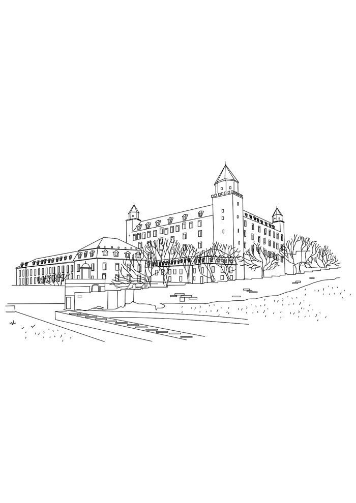 castelo para colorir 17