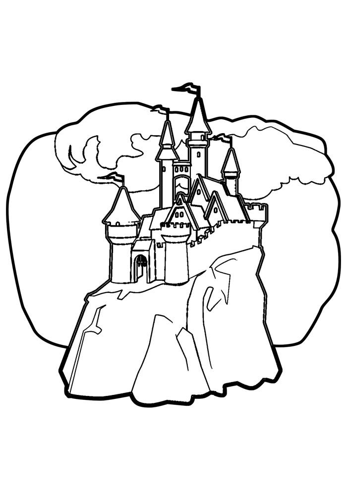 castelo para colorir 18
