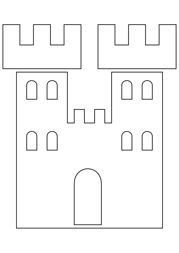 castelo para colorir 19
