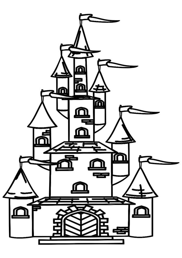 castelo para colorir 20