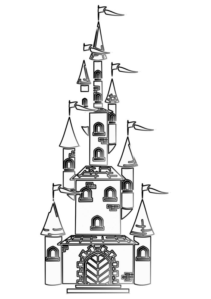 castelo para colorir 21