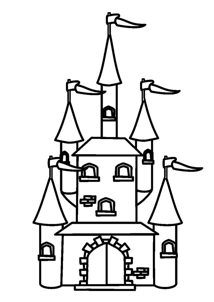 castelo para colorir 22