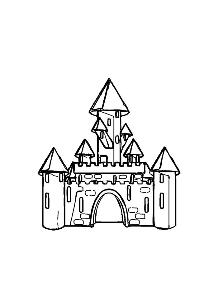 castelo para colorir 23