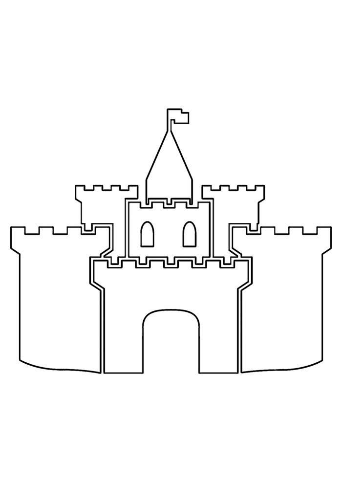 castelo para colorir 24