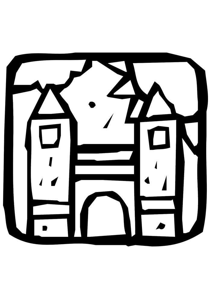 castelo para colorir 27