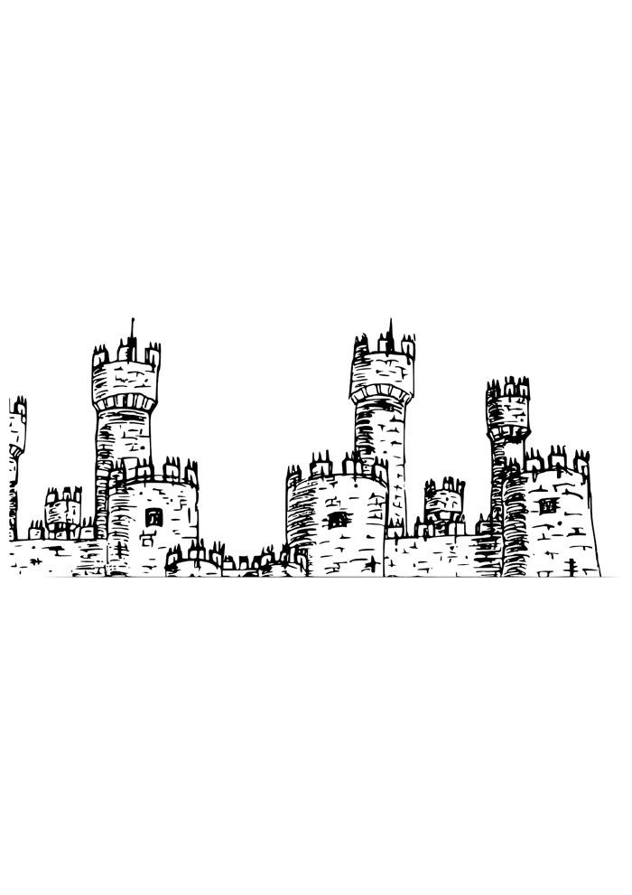 castelo para colorir 3