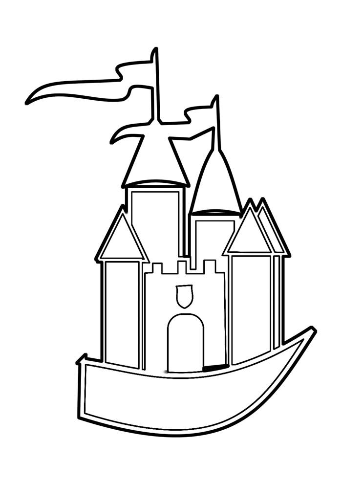 castelo para colorir 4
