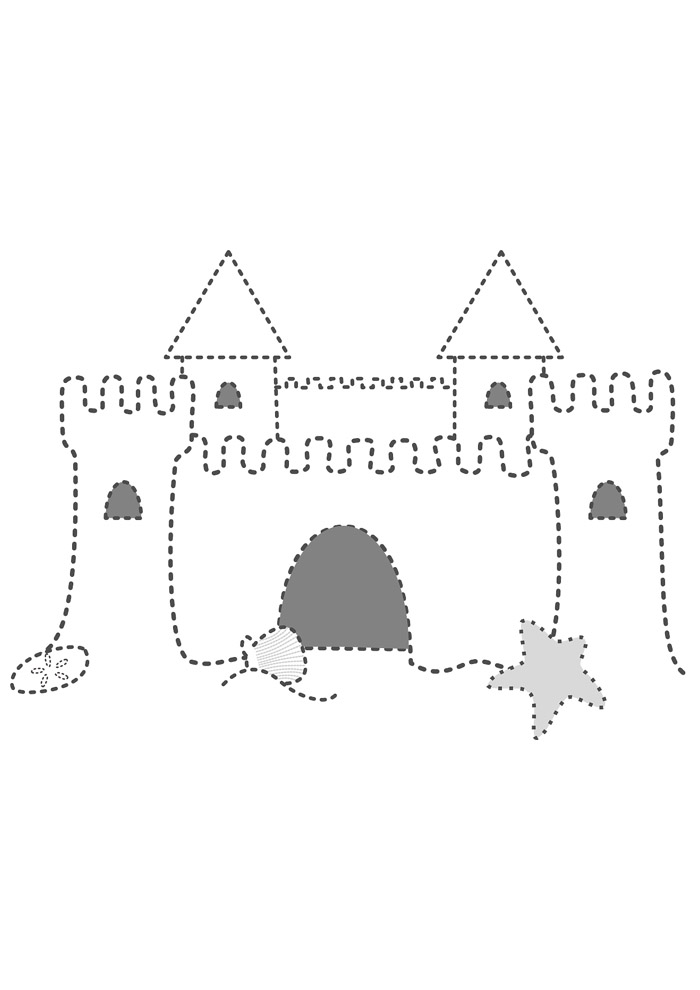 castelo para colorir 5