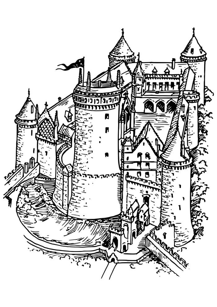 castelo para colorir 7