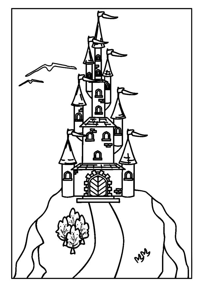 castelo para colorir 8