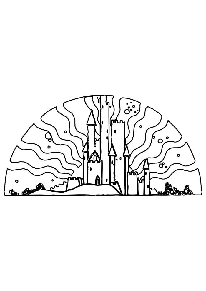 castelo para colorir 9