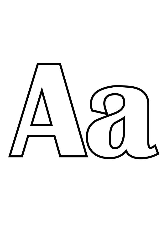 letra a para colorir