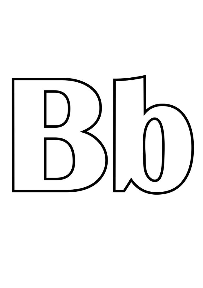 letra b para colorir