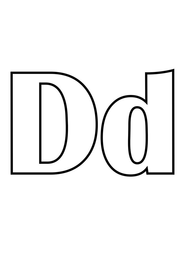 letra d para colorir
