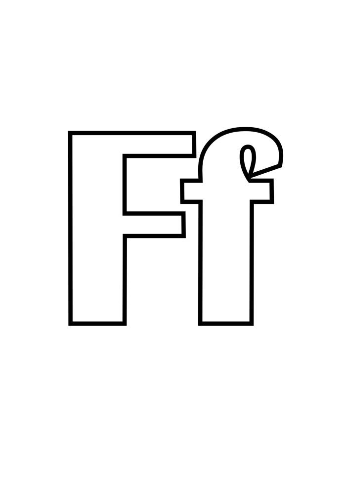 letra f para colorir