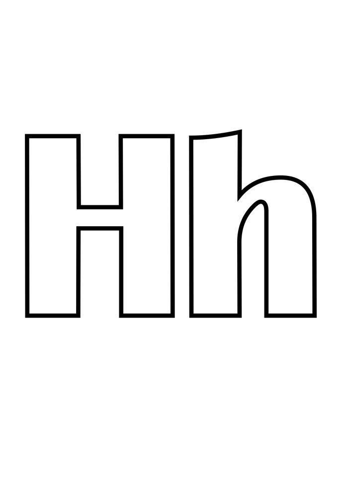 letra h para colorir