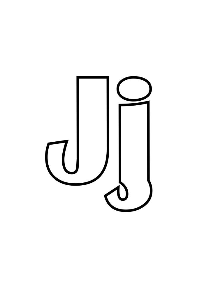 letra j para colorir
