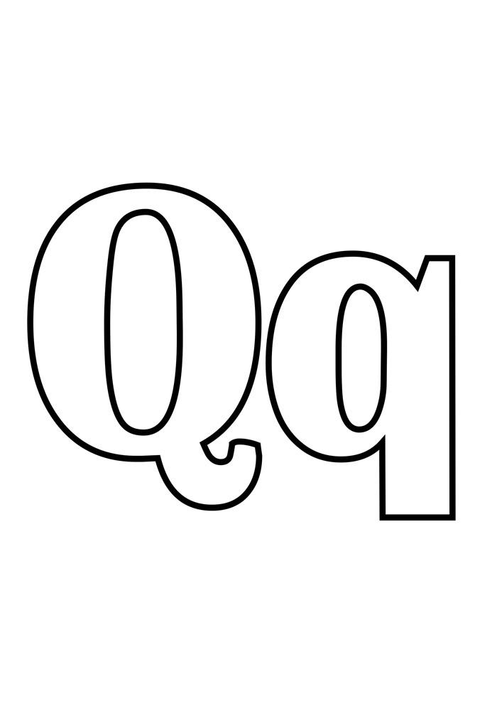 letra q para colorir