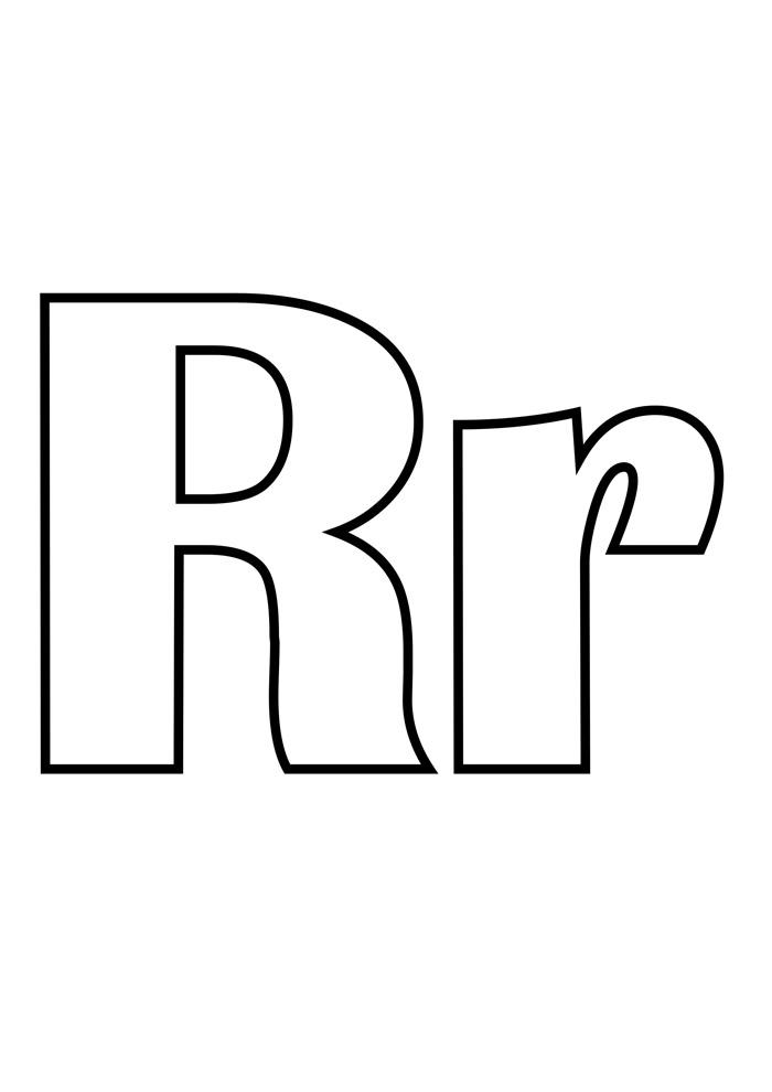 letra r para colorir