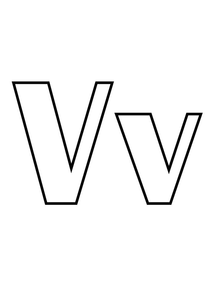 letra v para colorir