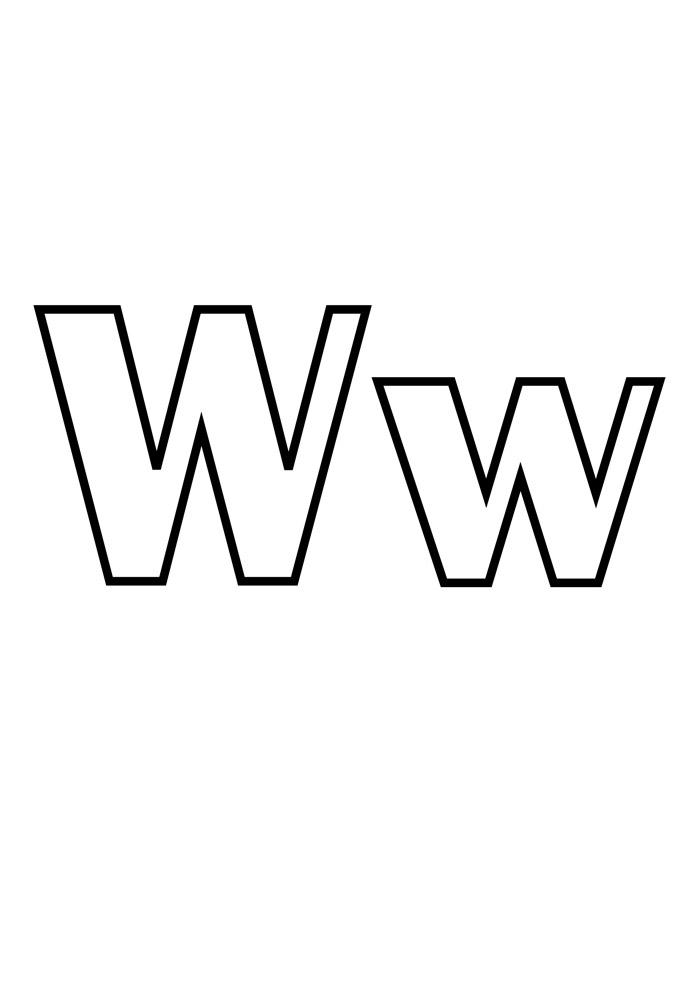 letra w para colorir