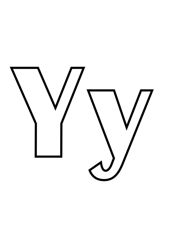 letra y para colorir