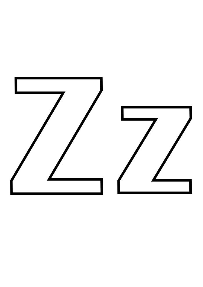 letra z para colorir