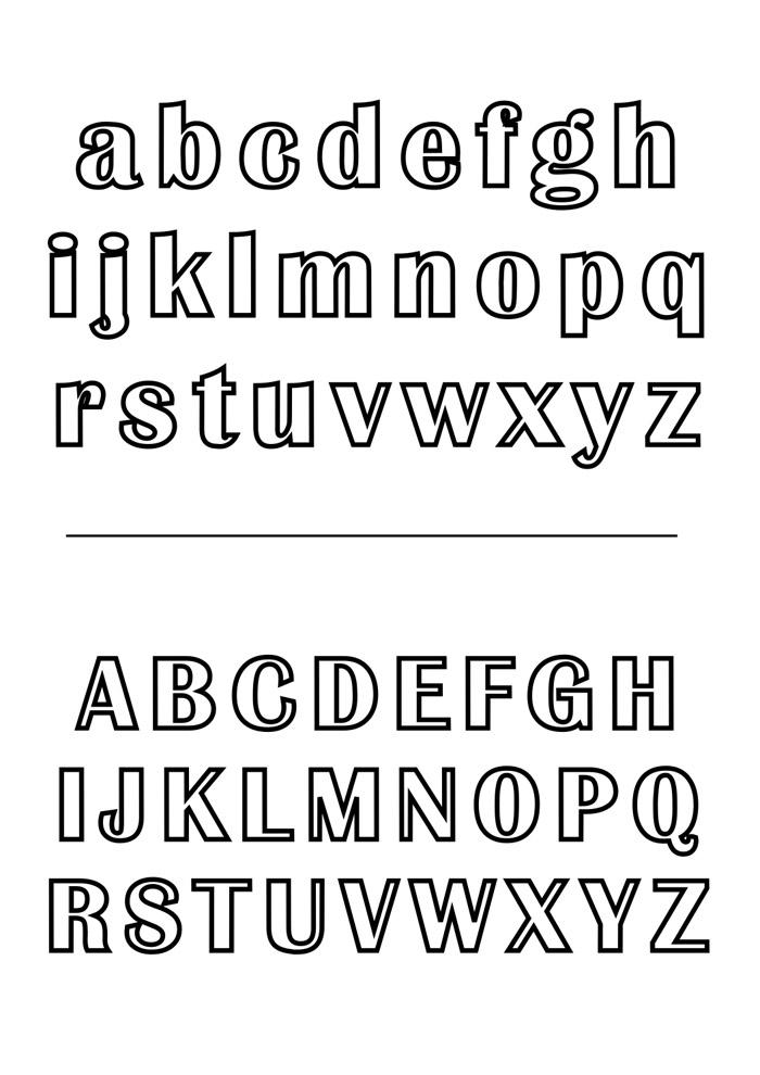 letras para colorir