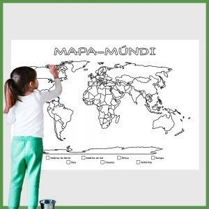 mapa mundi grande para imprimir e colorir