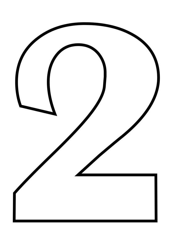 numero 2 para colorir