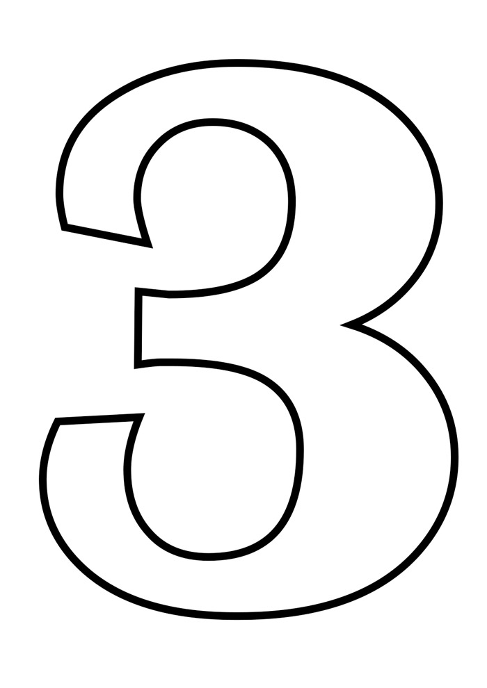 numero 3 para colorir
