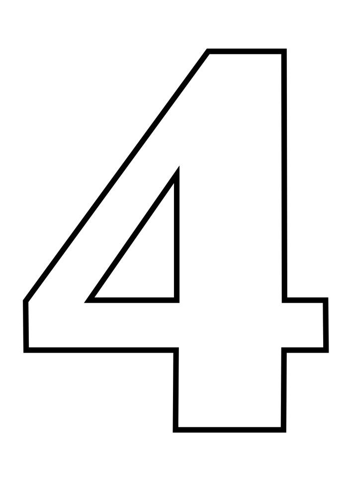 numero 4 para colorir
