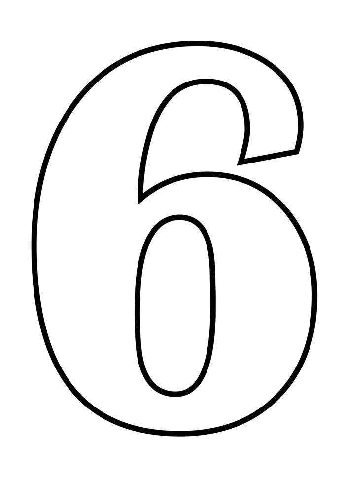 numero 6 para colorir