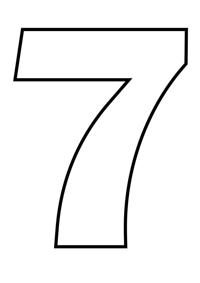numero 7 para colorir