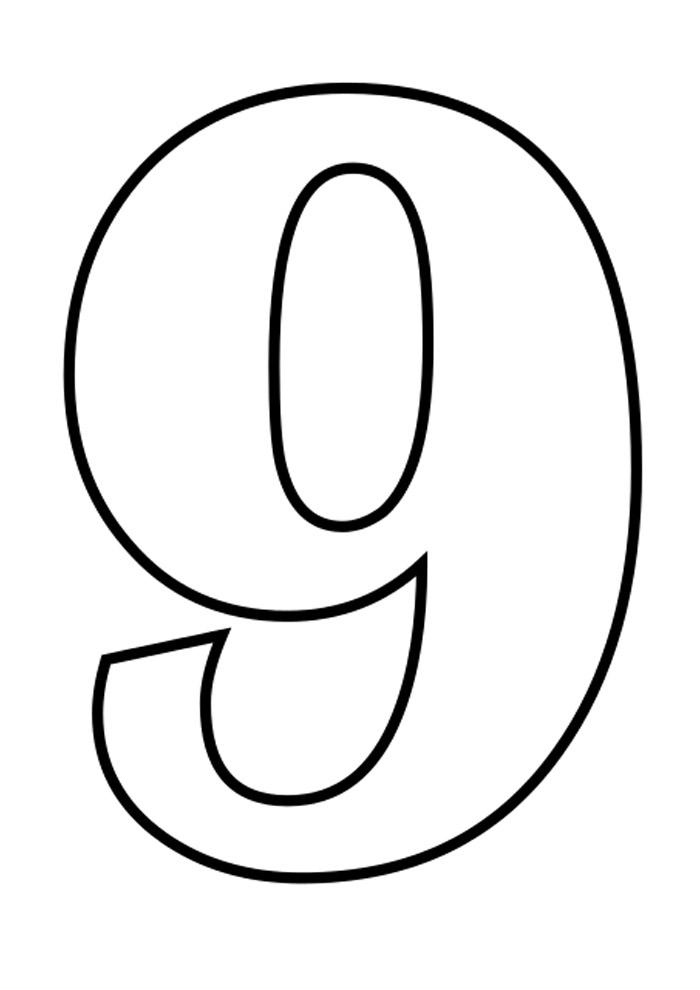 numero 9 para colorir