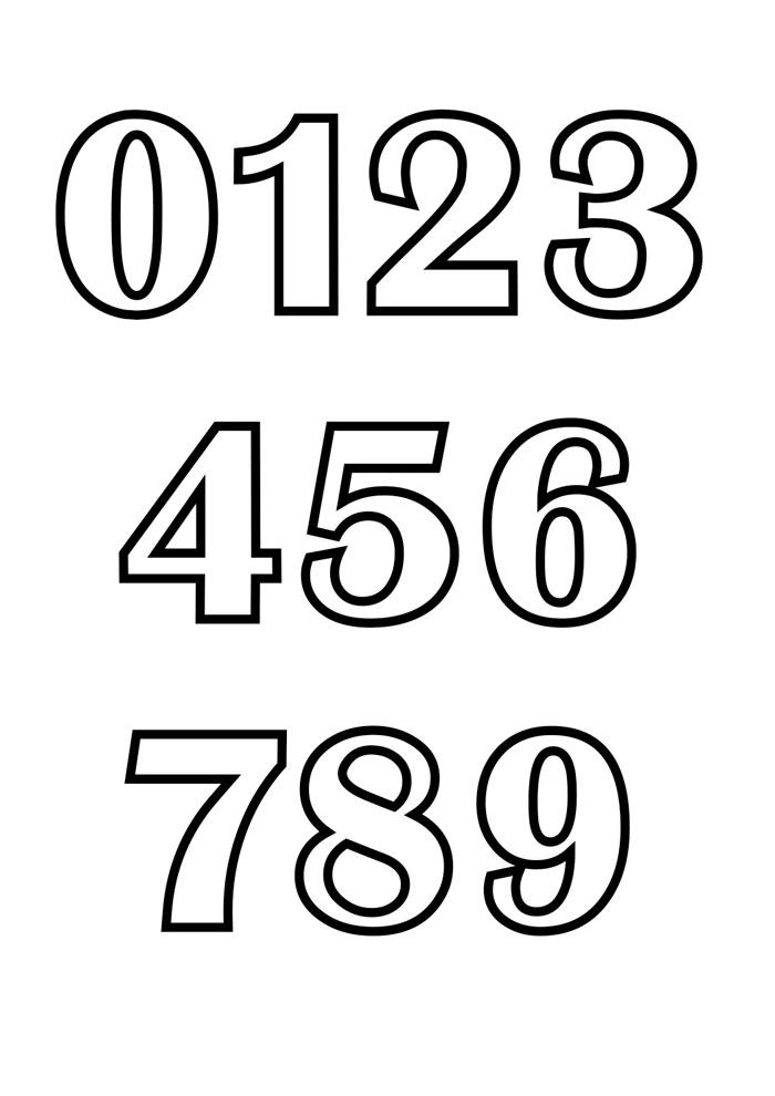 numeros para colorir