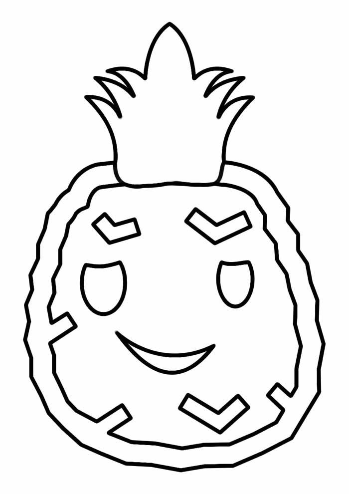 abacaxi para colorir 1