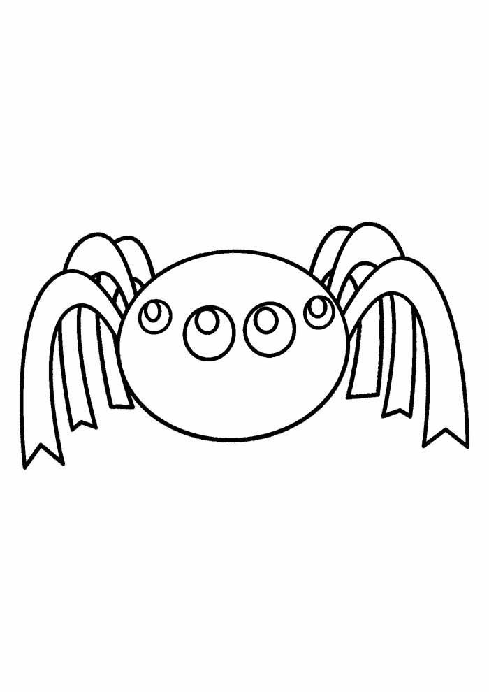 aranha para colorir 19