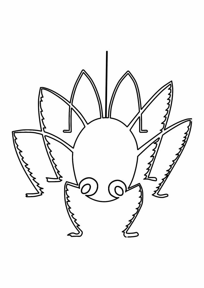 aranha para colorir 2